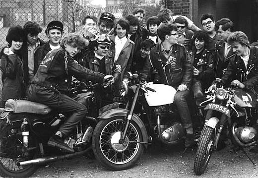 rocker rockers cafe racer vintage old photo